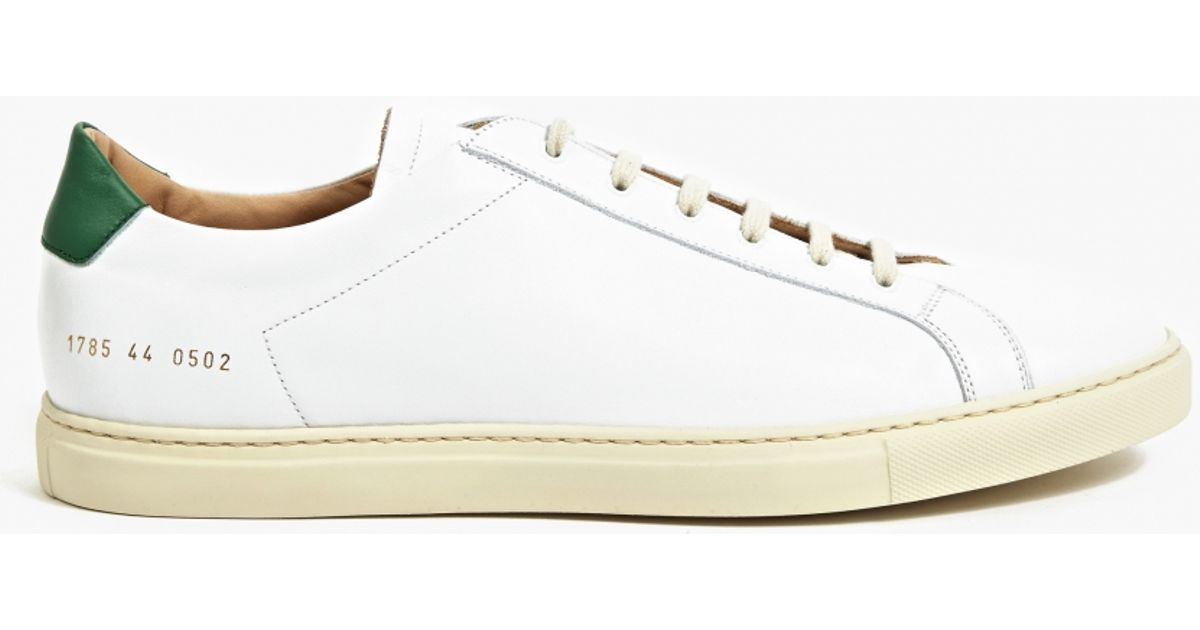 common projects retro achilles leather low top sneakers in white for men lyst. Black Bedroom Furniture Sets. Home Design Ideas