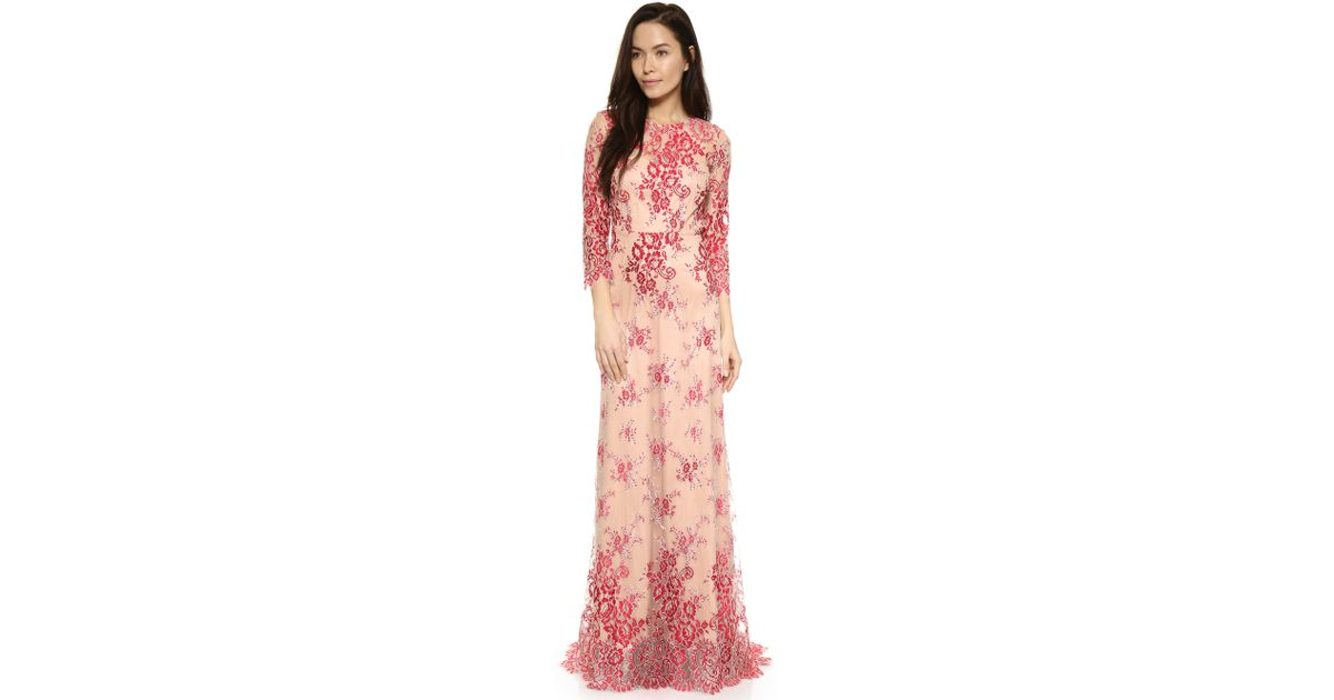 c5dc92eab8e Alexis Akira Lace Gown in Red - Lyst