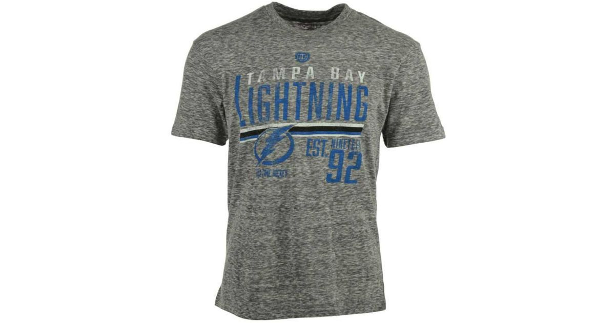 b2ae28d48 Lyst - Old Time Hockey Men s Tampa Bay Lightning Combine T-shirt in Gray  for Men