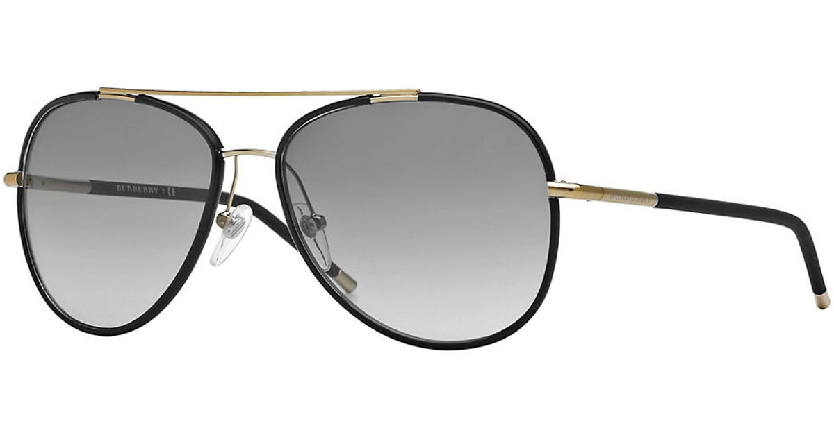 Burberry Black And Gold Aviators in Metallic for Men - Lyst ff017e9fe6b