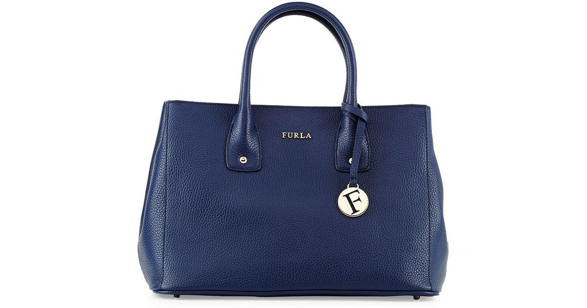 Lyst Furla Serena Small Leather Tote Bag In Blue