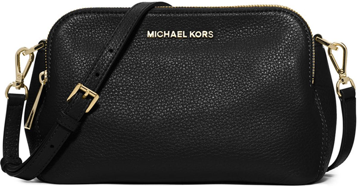 261a36b058596 ... where can i buy lyst michael michael kors bedford medium double zip messenger  bag in black