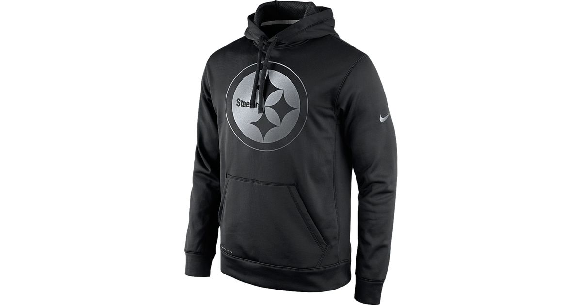 official photos 7b818 841a1 Nike Black Men'S Pittsburgh Steelers Reflective Ko Hoodie for men