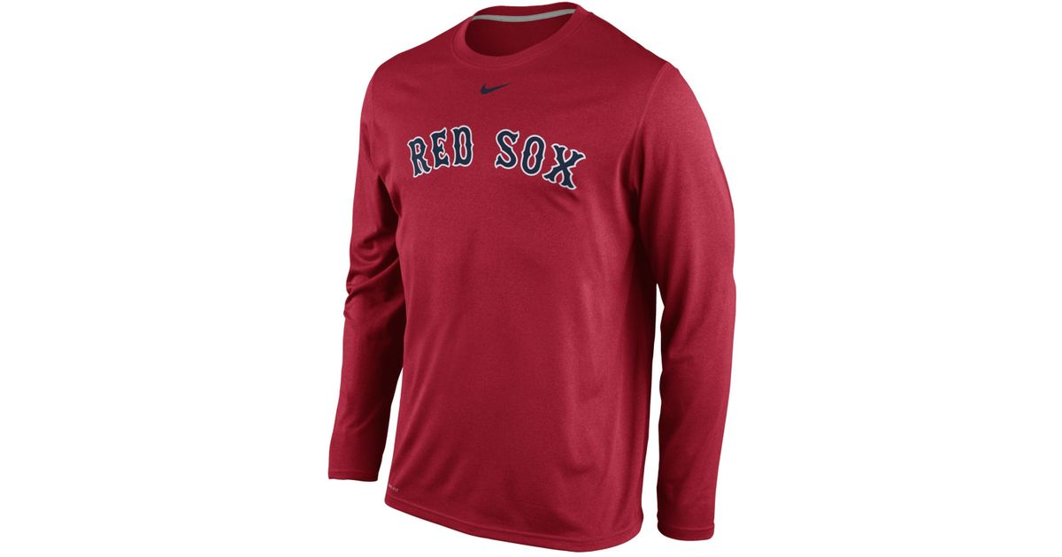 size 40 35e0d 46c7b Nike Men's Long-sleeve Boston Red Sox Legend T-shirt for men