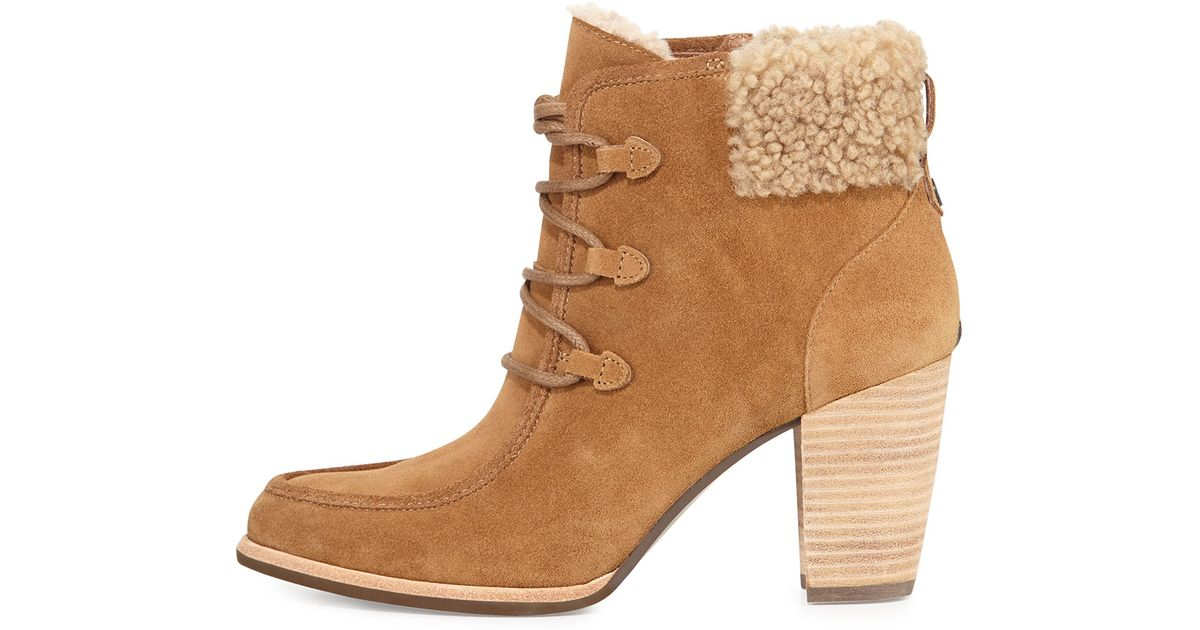 e3403795ee0 UGG Brown Analise Lace-Up Ankle Boots