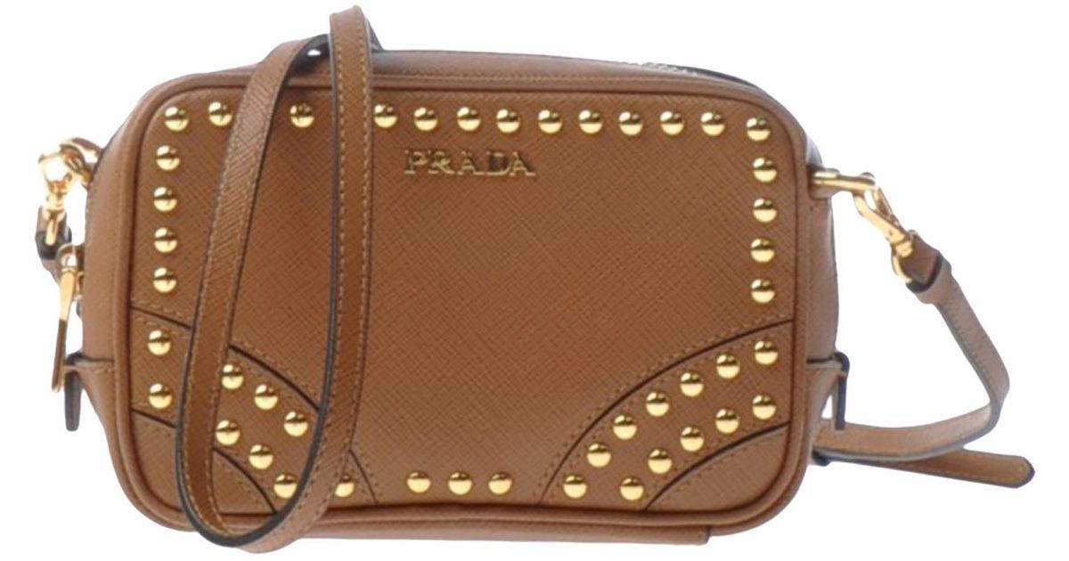 Prada Under-Arm Bags in Brown (Camel) | Lyst