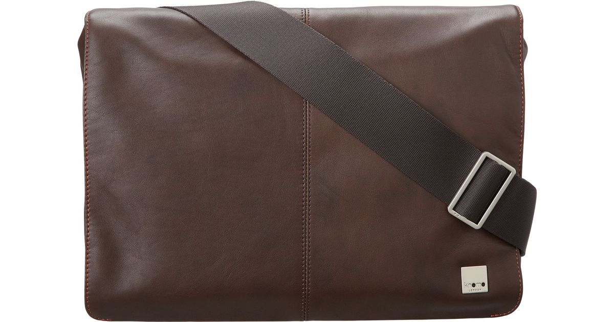 fc53ce83f6a4 Lyst - Knomo Kinsale Small Messenger Laptop Bag in Brown for Men