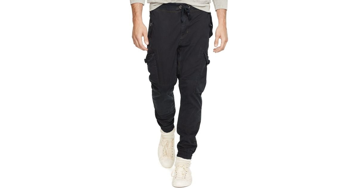Unique Ralph Lauren Linenblend Cargo Pant In White  Lyst