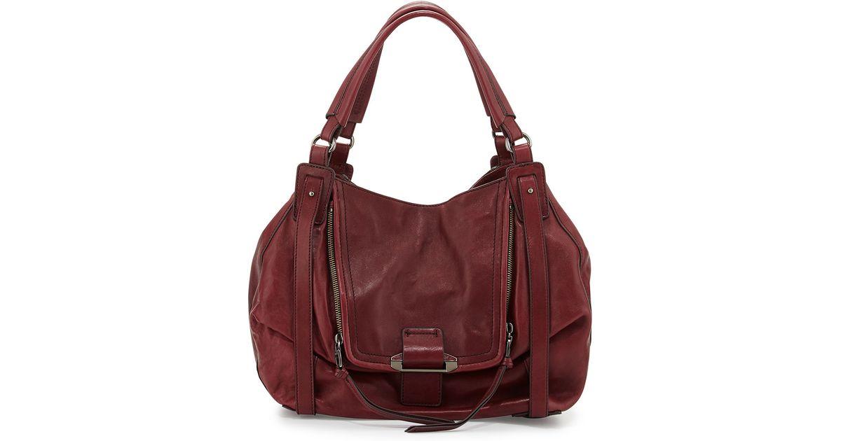1d3aa9291 Kooba Jonnie Leather Hobo Bag in Red - Lyst