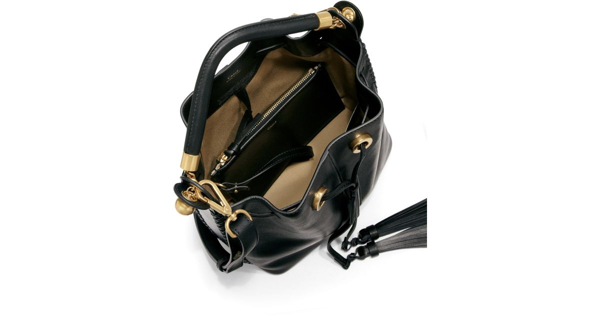 chloe satchel bag - Chlo�� Gala Medium Leather Bucket Bag in Black - Save 30% | Lyst
