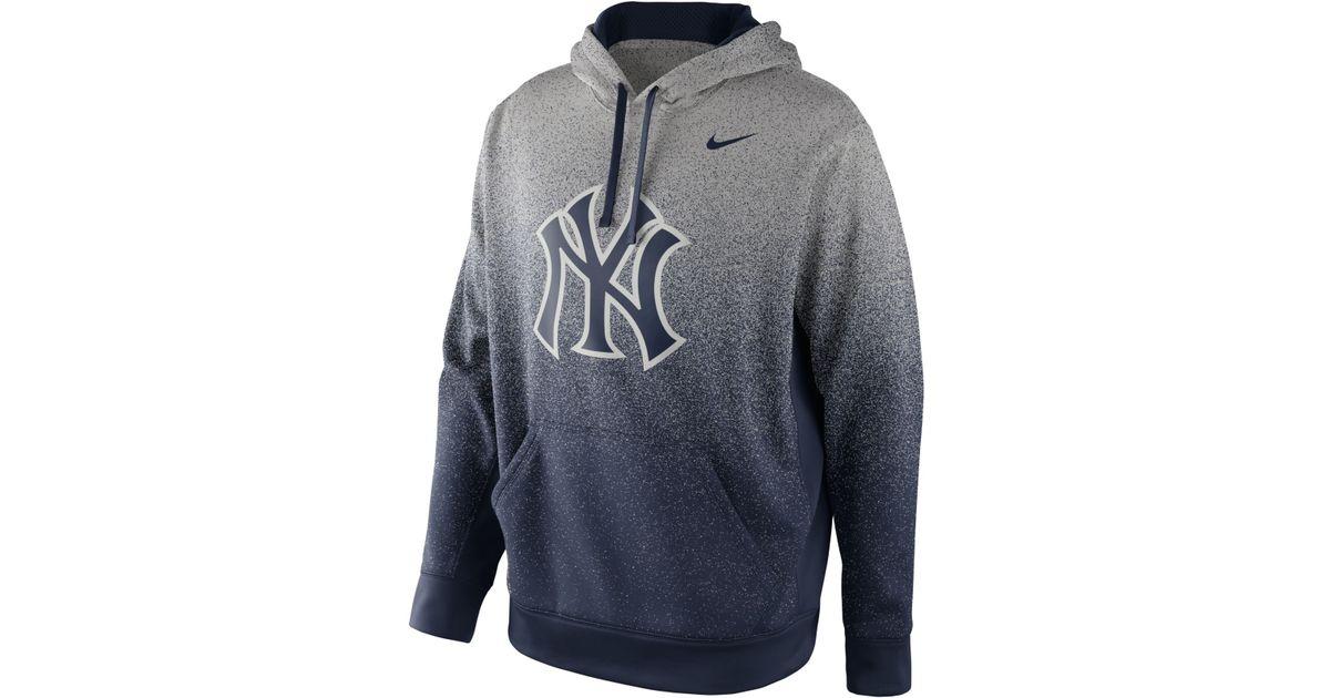 Nike Gray Men'S New York Yankees Ko Therma Fit Hoodie for men