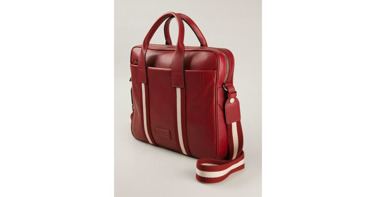 47a92689df50 Lyst - Bally Medium  Tedal  Laptop Bag in Red for Men