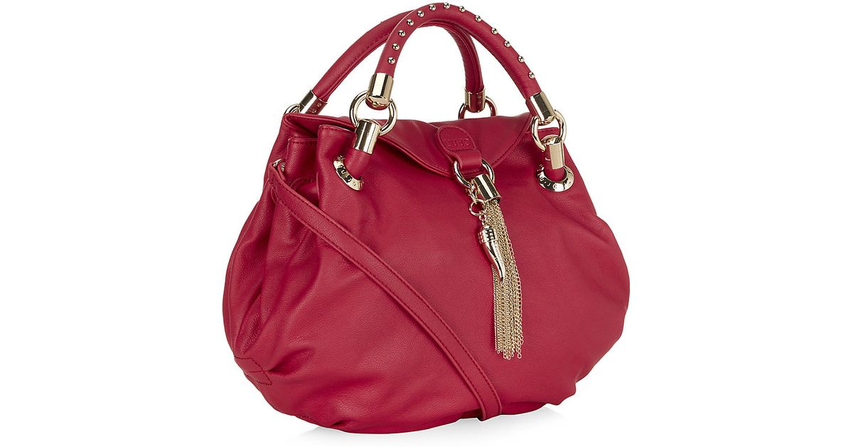 Liu jo Sophia Small Hobo Bag in Red | Lyst