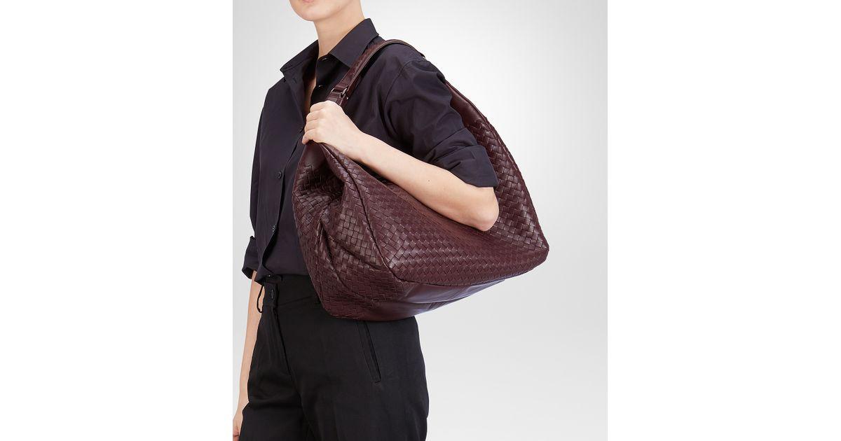 38dcf5918499 Bottega Veneta Aubergine Intrecciato Nappa Campana Bag in Purple - Lyst