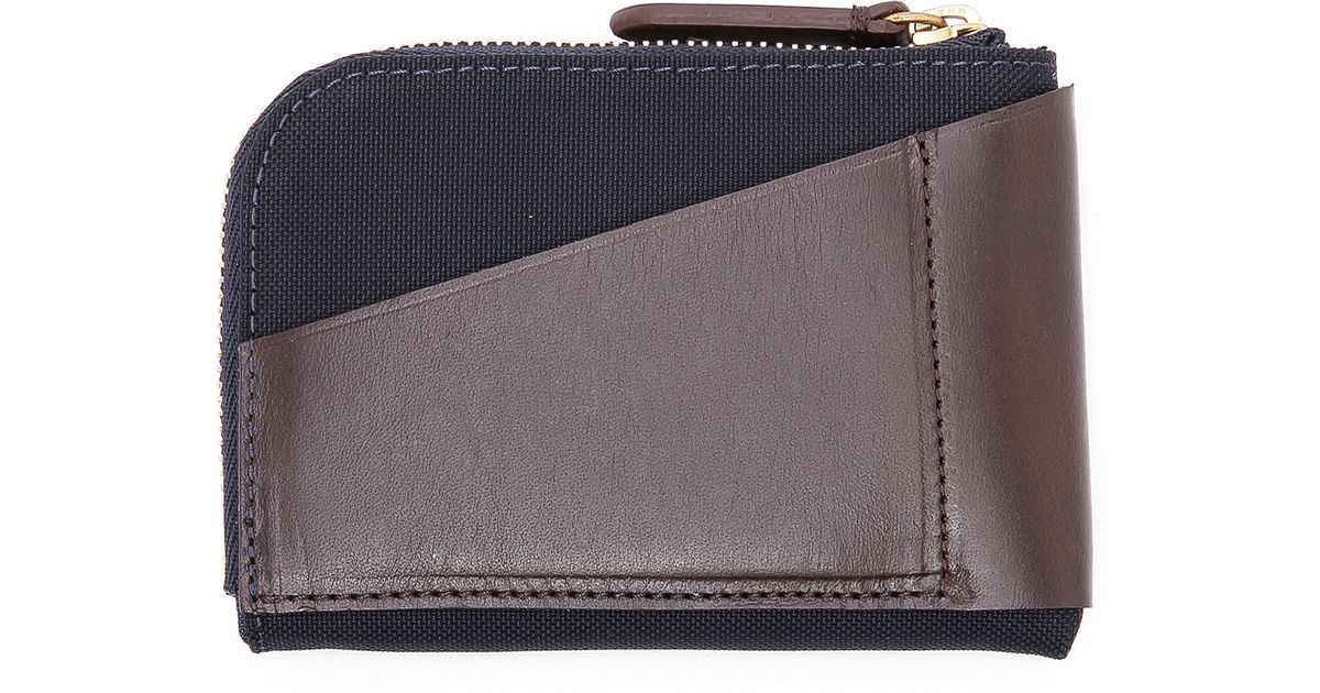 Mismo Blue Ms Cards Coins Zip Wallet for men