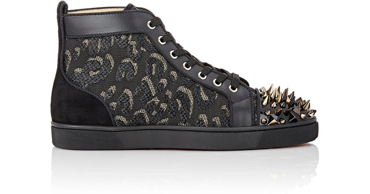 469cbccc60a Christian Louboutin Black Men's Louis Pik Pik Sneakers for men