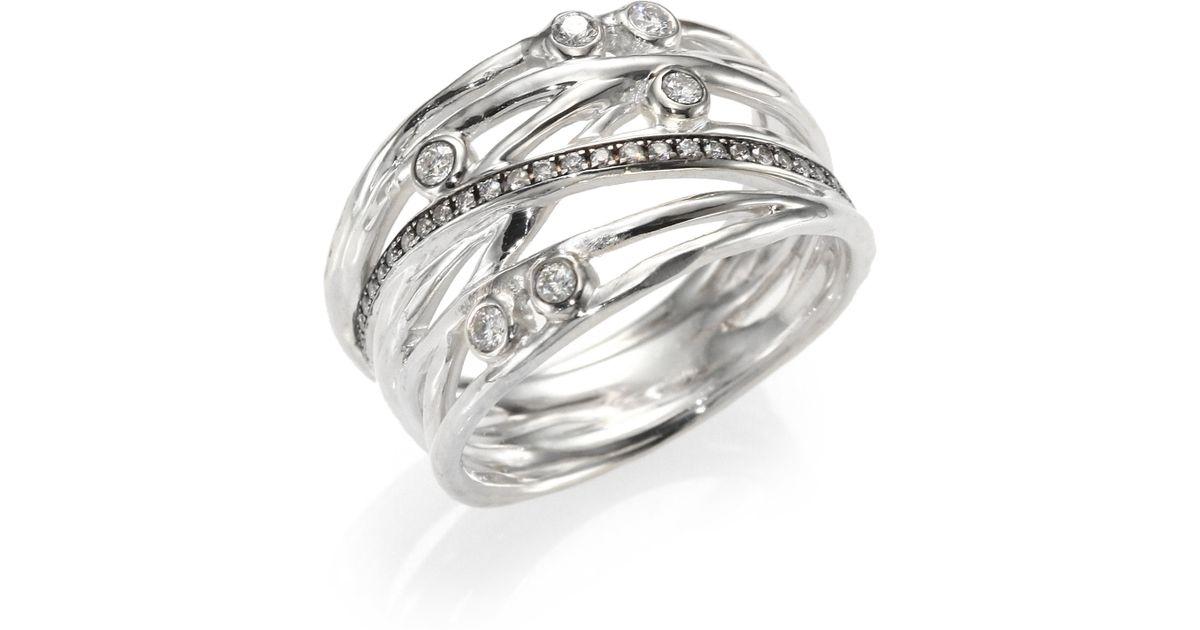 ippolita stella sterling silver multi band ring