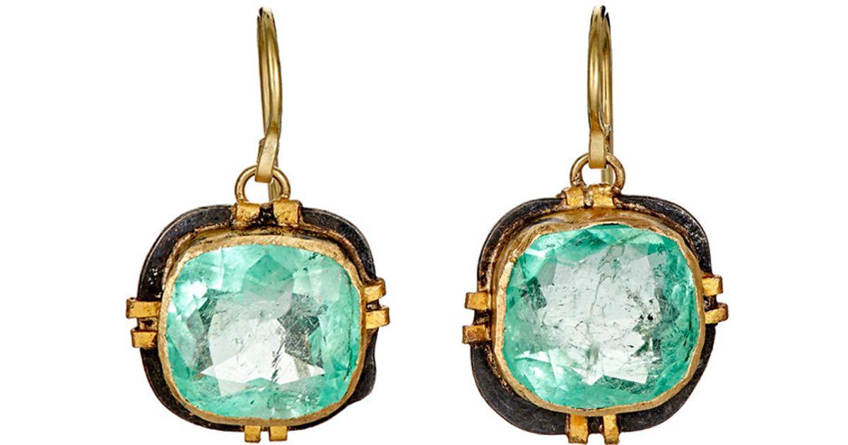Womens Flowery Double-Drop Earrings Judy Geib ZKZRkr