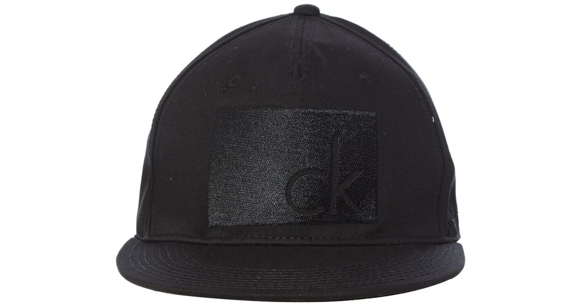 calvin klein arlo baseball cap in black for men lyst. Black Bedroom Furniture Sets. Home Design Ideas