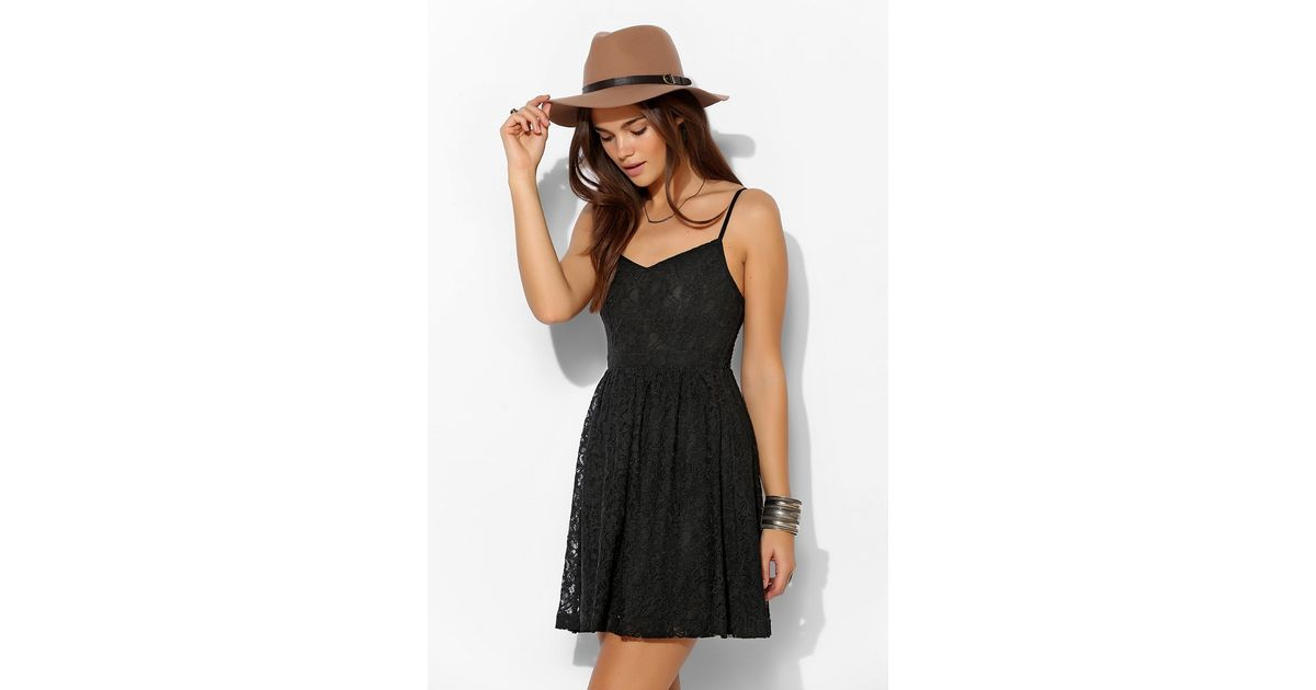 48e4237799d Lyst - Pins And Needles Delilah Lace Sundress in Black