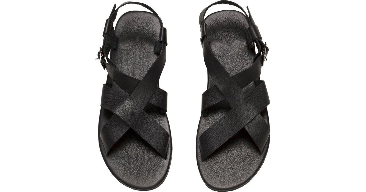 cbd5426a73c H&M Black Leather Sandals for men