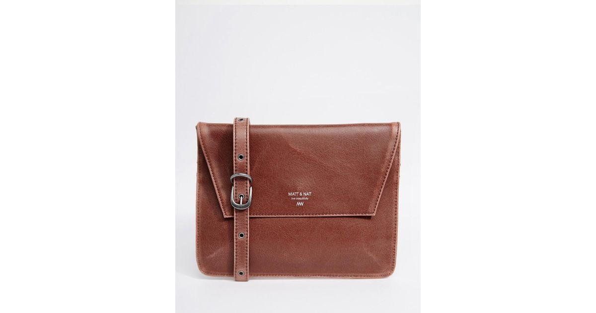 Matt Nat Velo Cross Body Bag In Brown