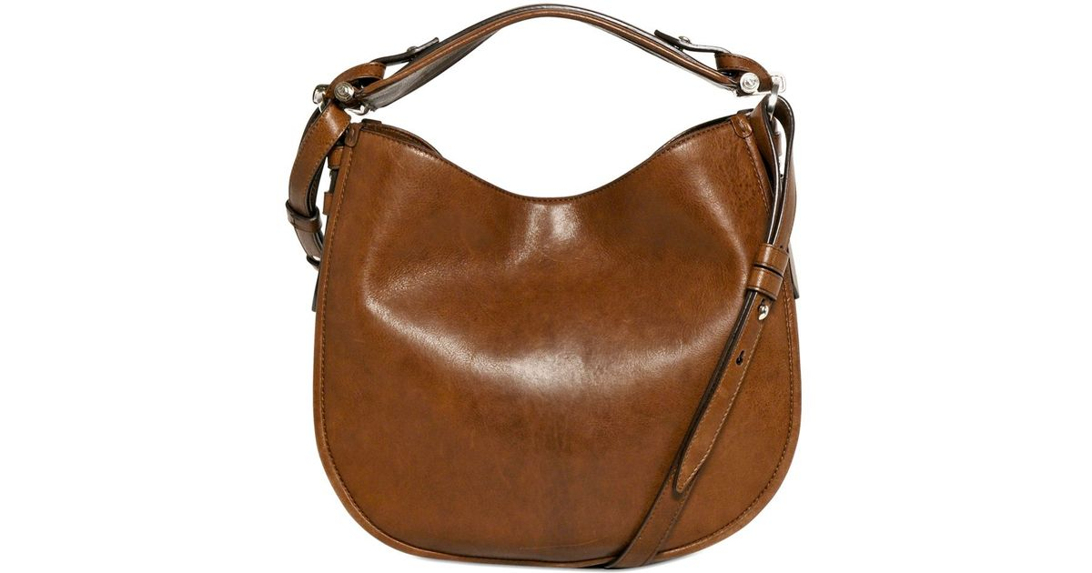 Lyst - Givenchy Small Obsedia Shiny Smooth Leather Bag in Brown e44226190f