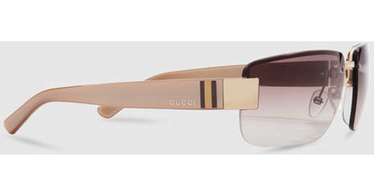 13d8af022b7 Lyst - Gucci Medium Rimless Sunglasses in Black for Men