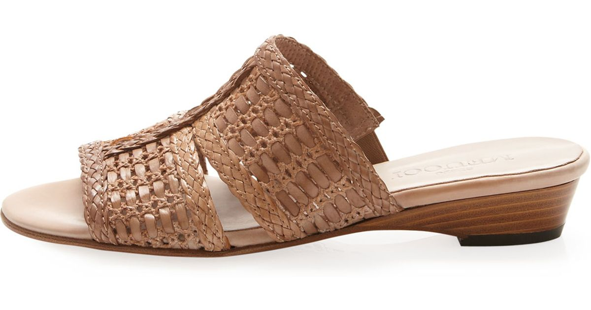 Sesto Meucci Braided Leather Slide Sandals discount largest supplier 100% authentic cheap online top quality cheap online perfect online lvKPa0