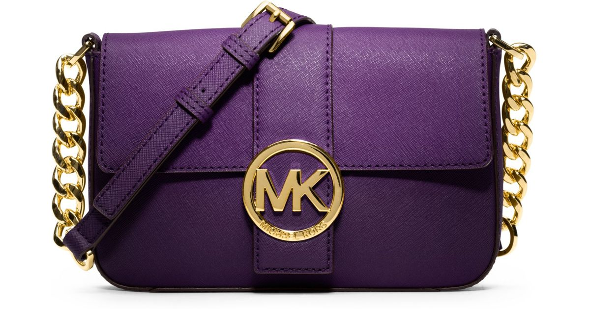 Lyst - Michael Kors Fulton Small Messenger Bag in Purple b33ba3510c6ad