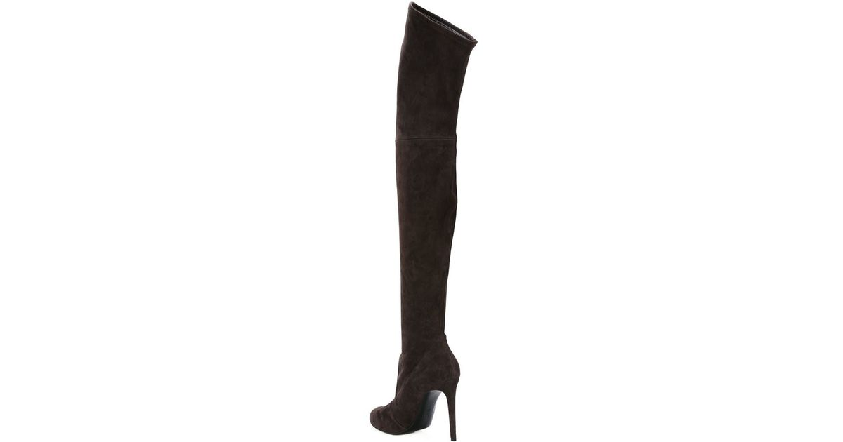 89e8ed75824 Lyst - Casadei Thigh High Stiletto Boots in Brown