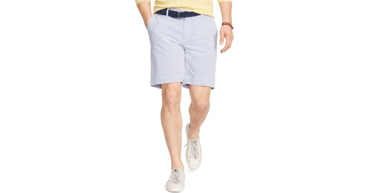 Lyst - Polo Ralph Lauren Striped Seersucker Shorts - Classic Fit in White  for Men
