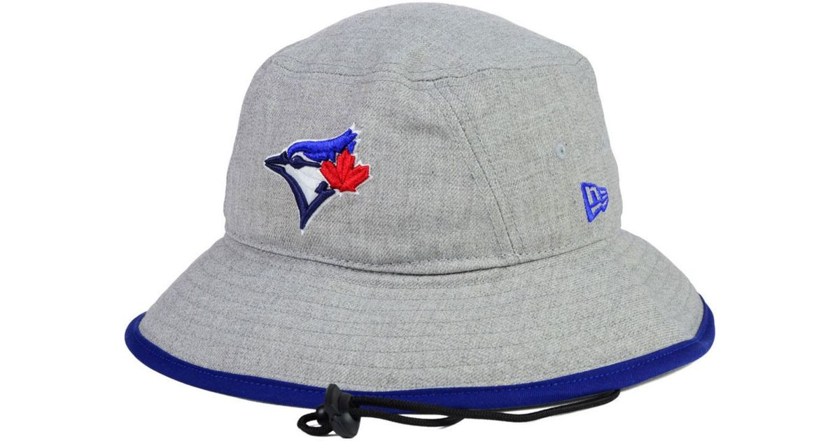 new products 0f28b 53122 KTZ Toronto Blue Jays Heather Tipped Bucket Hat in Gray for Men - Lyst