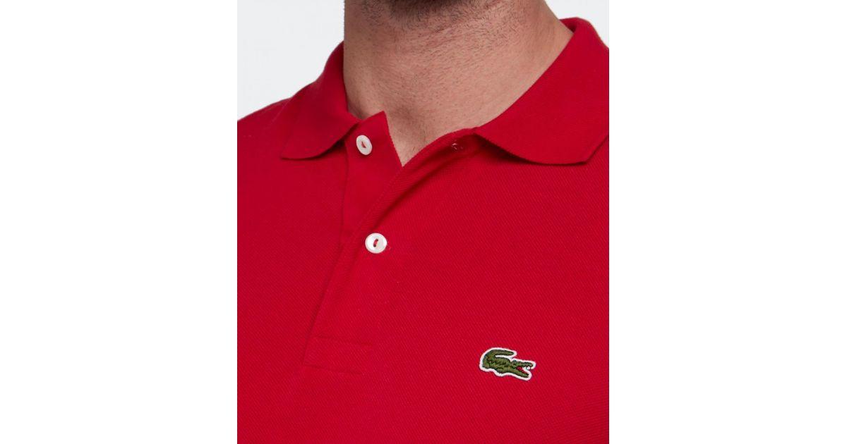 d3de2c0e Lacoste Red Long Sleeve L.13.12 Polo Shirt for men