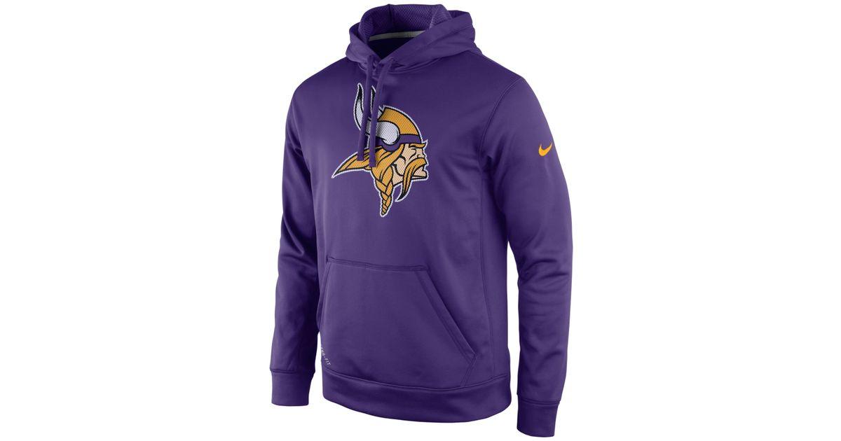 sports shoes 50d53 66d58 Nike Purple Men's Minnesota Vikings Performance Po Dri-fit Hoodie for men