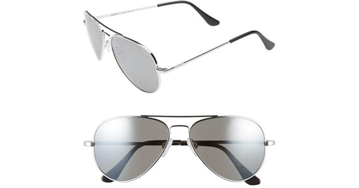 2fa95fc276 Lyst - Randolph Engineering  concorde  57mm Aviator Sunglasses - Chrome   Grey Flash Mirror in Metallic