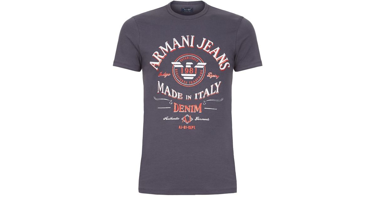 437bcc95fef armani jeans t shirt made in italy Armani Jeans Made In Italy T-shirt in