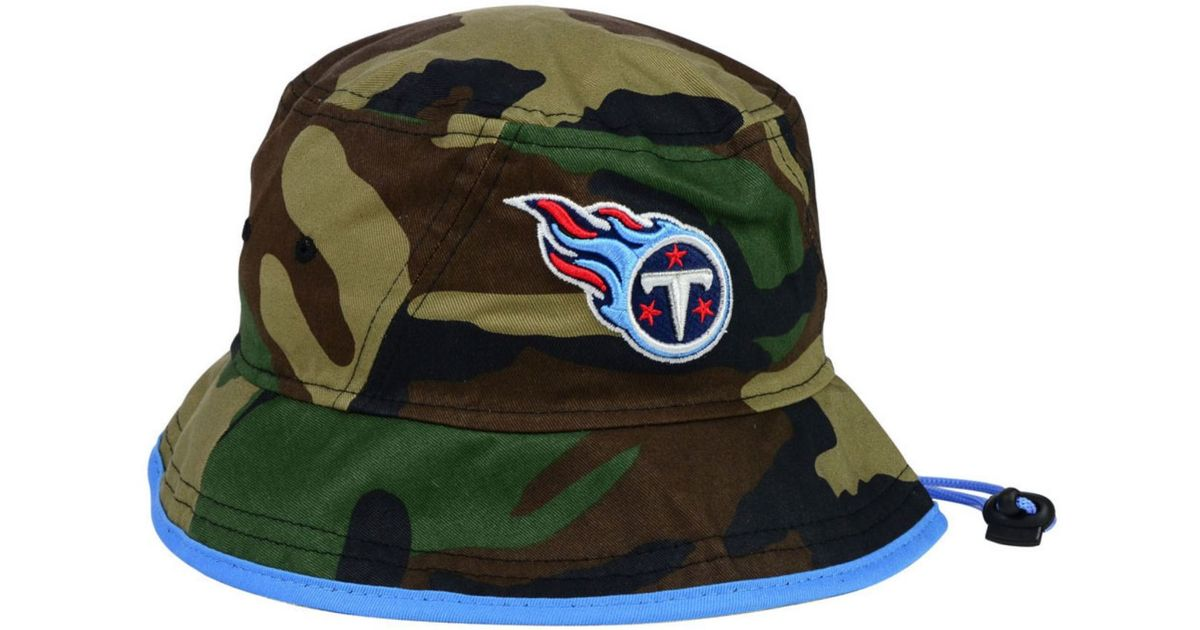 62d8316a6 ... cheap lyst ktz tennessee titans camo pop bucket hat in green for men  7acbc 7c914