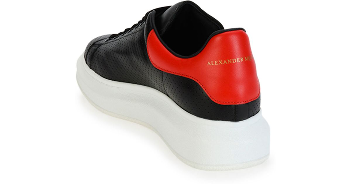 c0418686dde53 Black Top Sneaker Mcqueen Low Lyst Alexander For Leather Men Perforated  ga1TqSx