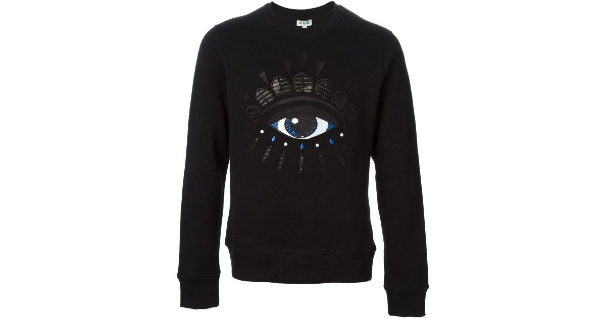 824e6d0f3e3 KENZO Big Eye Cotton Sweatshirt in Black for Men - Lyst