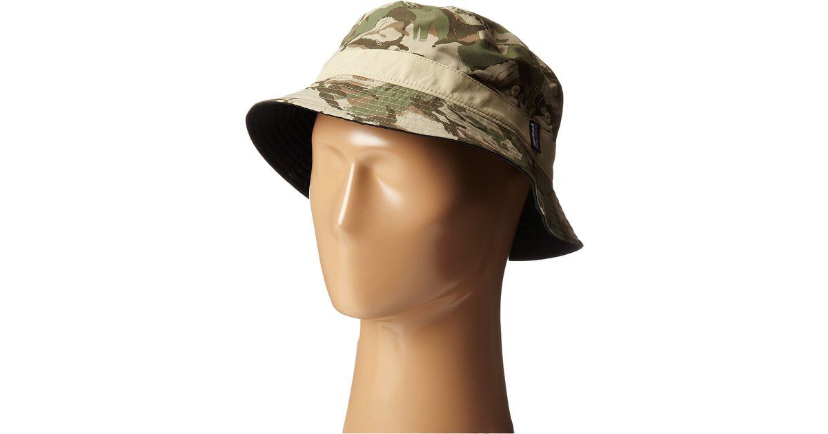 Lyst - Patagonia Wavefarer Bucket Hat in Green for Men 8f943defb57