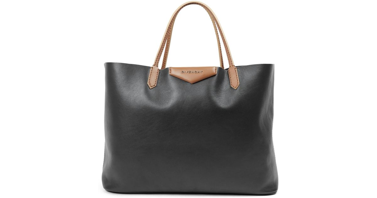 9799c9e7b7 Lyst - Givenchy Antigona Large Two-tone Leather Tote in Black