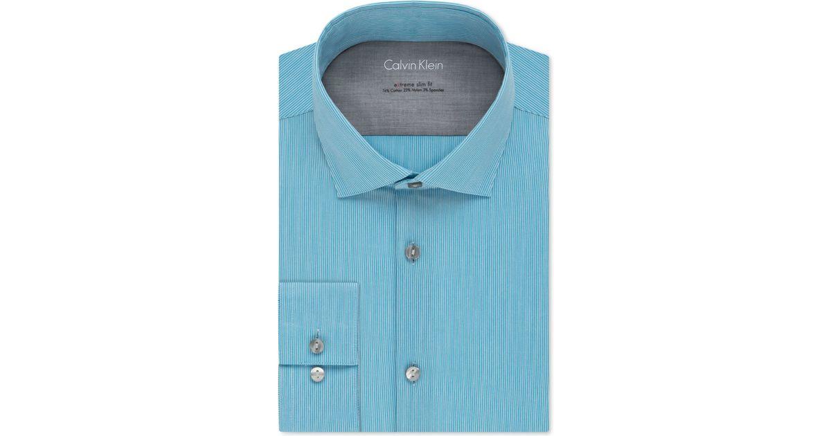 Calvin klein x extra slim fit stretch pool fineline stripe for Calvin klein slim fit stretch shirt