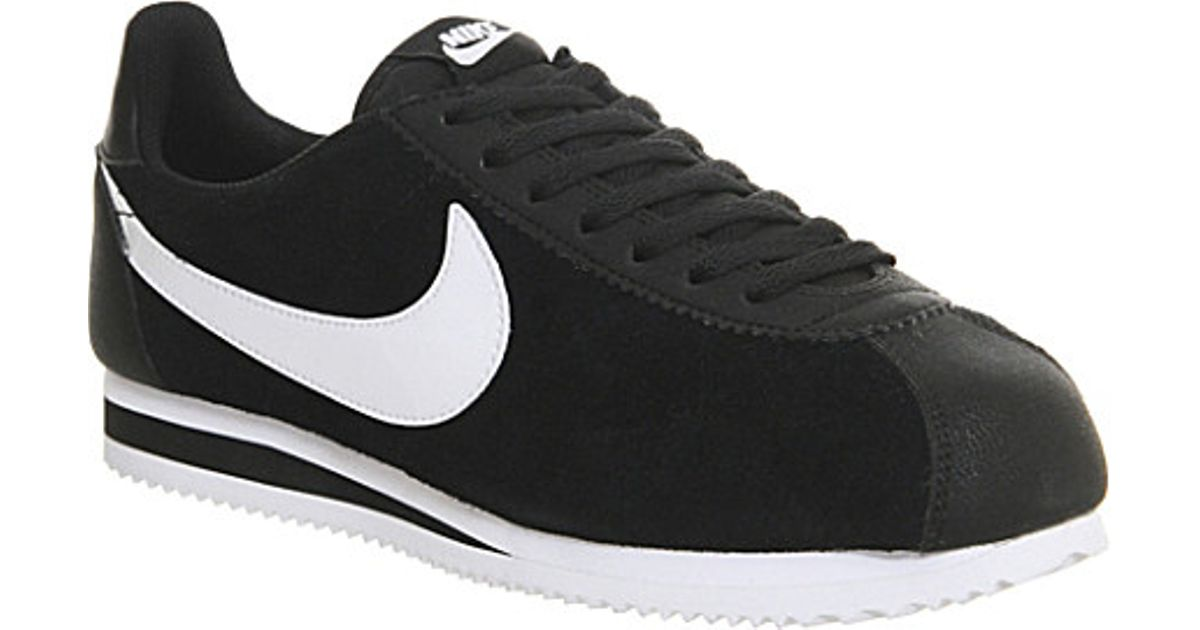 the latest b555a 0b568 Nike Cortez Og Suede Trainers, Men's, Size: 8, Black White Leather for men