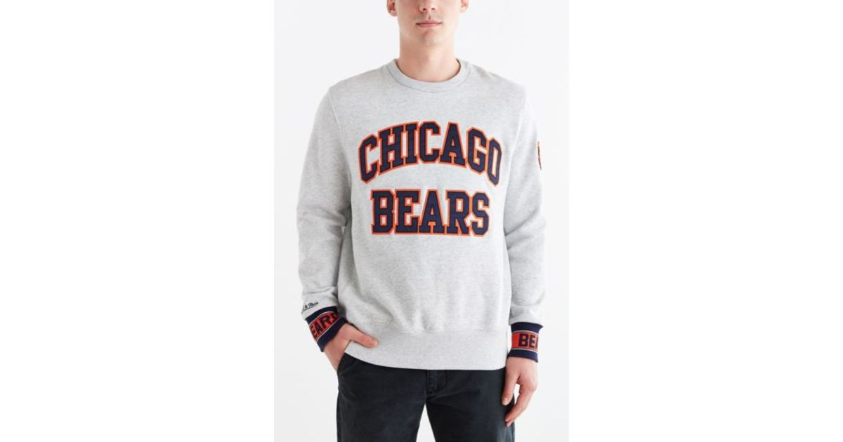 low priced 6ce7f 04073 Mitchell & Ness Gray Chicago Bears Team Sweatshirt for men