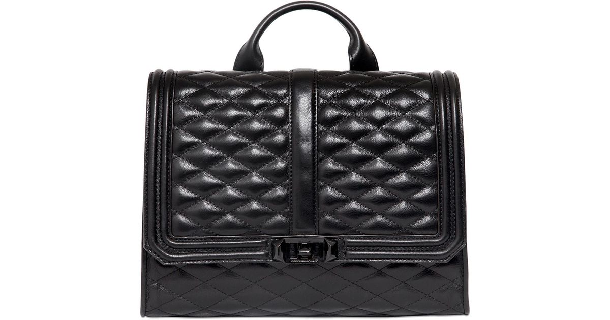 Rebecca minkoff Love Quilted Leather Backpack in Black | Lyst : quilted leather rucksack - Adamdwight.com