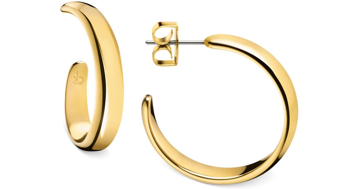 better fast delivery fast delivery Calvin Klein Metallic Embrace Hoop Earrings