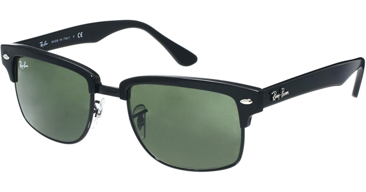 ray ban squared clubmaster  Ray-ban Square Clubmaster Sunglasses 0Rb4190 877 52 in Black for ...