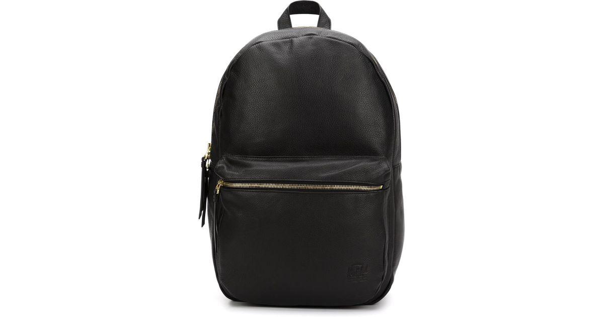 4aadbe7d192b Lyst - Herschel supply co. Leather Backpack in Black for Men