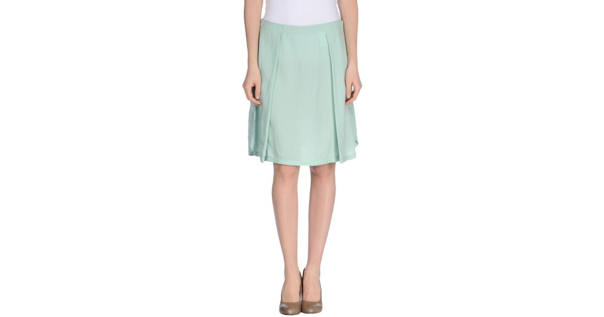 gattinoni knee length skirt in green lyst